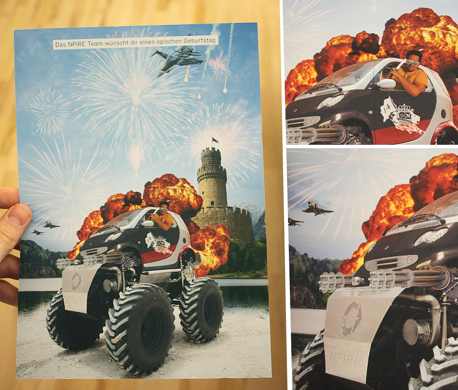 Monstertruck, Kampfjets, Explosionen, cool!
