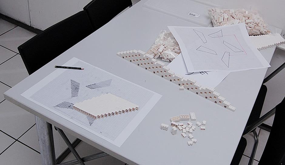 Der NPIRE Lego-Stern wird konstruiert