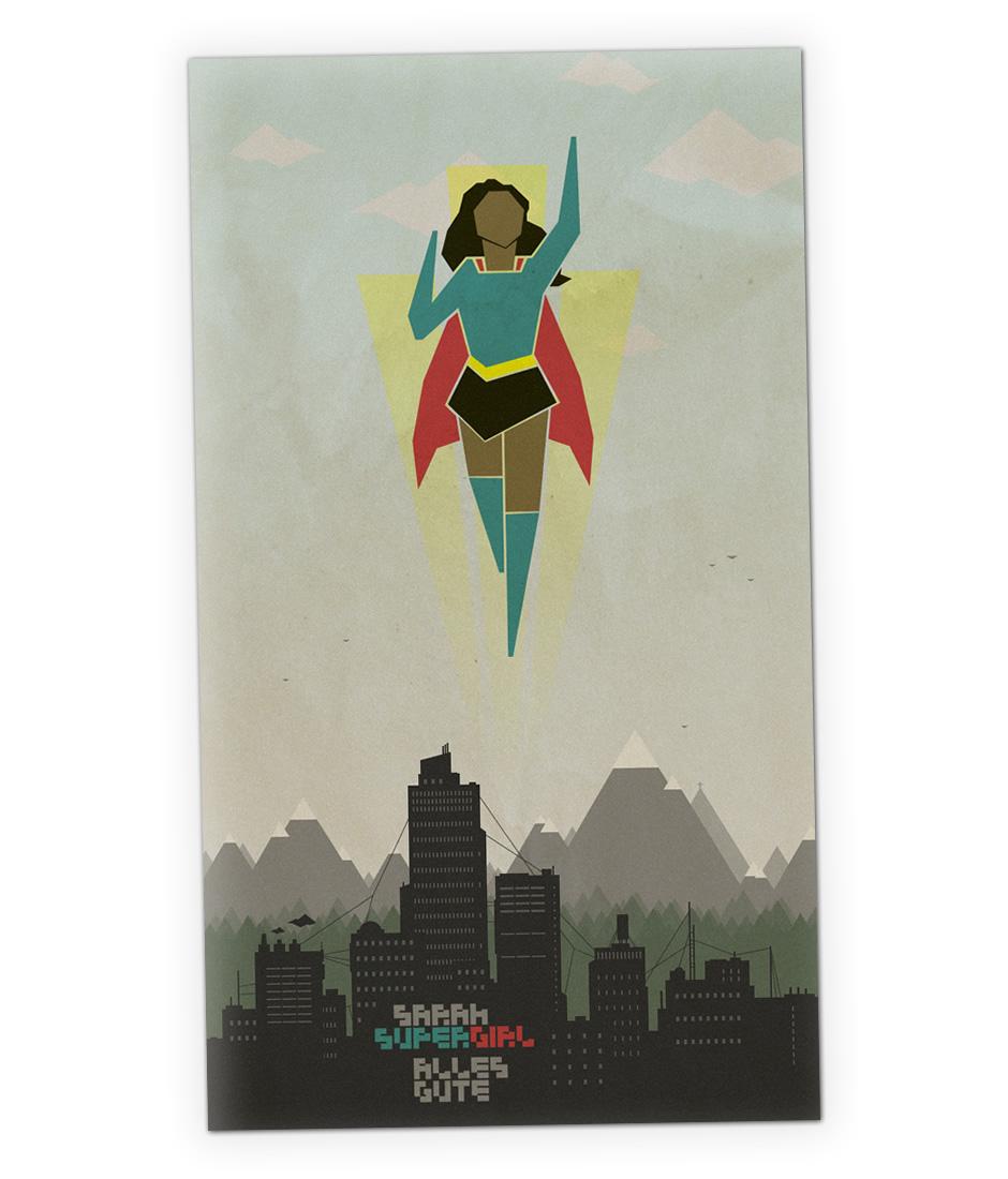 Karte für Sarah Supergirl zum Geburtstag