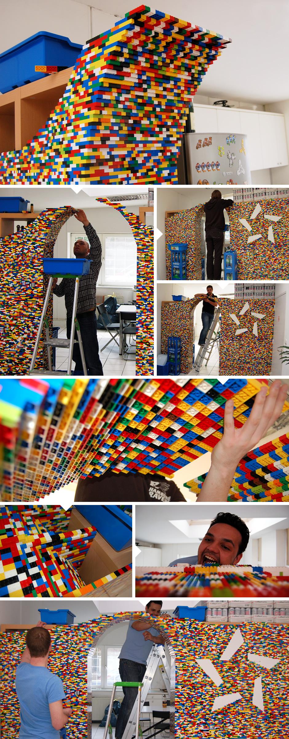 Der Legotorbogen entsteht