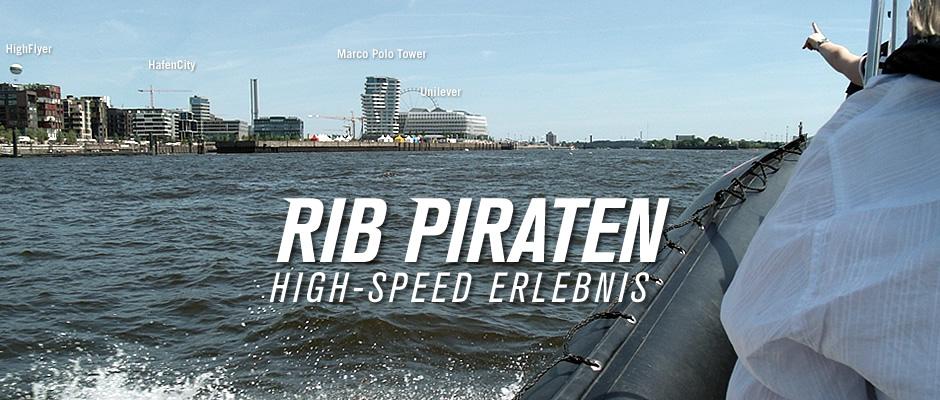 Die RIB Piraten auf der Strecke im Hamburger Hafen